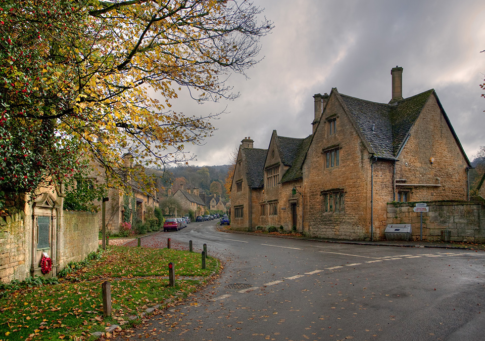 Scenic village in the Cotswolds